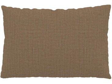 Coussin Brun Caramel - 40x60 cm - Housse en Textile tissé. Coussin de canapé moelleux