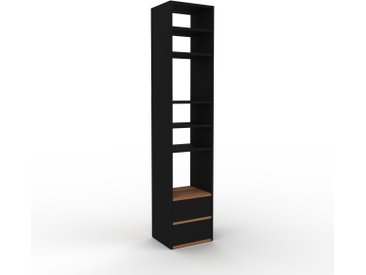 Bibliothèque - Noir, modèle tendance, rangements pour livres, avec tiroir Noir - 41 x 195 x 35 cm, modulable