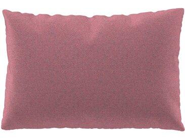 Coussin Rose Bonbon - 40x60 cm - Housse en Laine chinée. Coussin de canapé moelleux