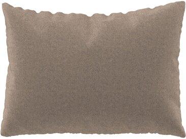Coussin Beige Cachemire - 48x65 cm - Housse en Laine. Coussin de canapé moelleux