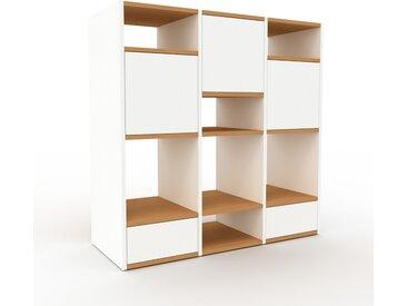 Système d'étagère - Blanc, design, rangements, avec porte Blanc et tiroir Blanc - 118 x 118 x 47 cm