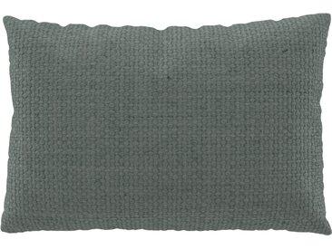 Coussin Bleu Pigeon - 40x60 cm - Housse en Textile tissé. Coussin de canapé moelleux