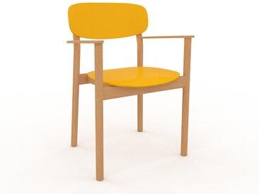 Chaise avec accoudoirs jaune de 52 x 82 x 58 cm au design unique, configurable