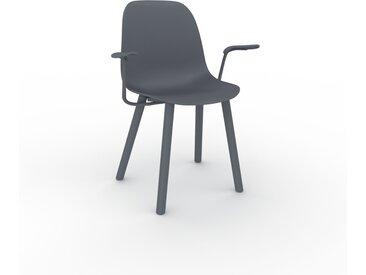 Chaise avec accoudoirs anthracite de 49 x 82 x 62 cm au design unique, configurable