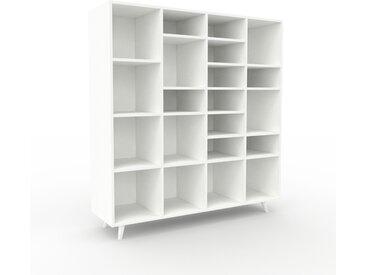 Système d'étagère - Blanc, design contemporain, rangements de qualité, modulables - 156 x 168 x 47 cm, personnalisable