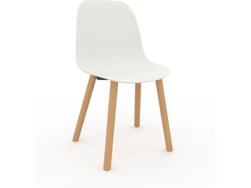 Chaise en bois blanc de 49 x 82 x 43 cm au design unique, configurable