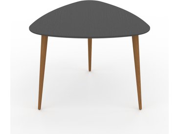 Table basse - Anthracite, triangulaire, design scandinave, petite table pour salon élégante - 59 x 47 x 61 cm, personnalisable