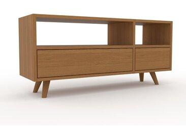 Buffet bas - Chêne, modèle tendance, rangements bas sophistiqué, avec tiroir Chêne - 116 x 53 x 35 cm, modulable