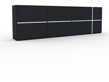 Enfilade - Anthracite, modèle de caractère, buffet, avec porte Anthracite - 265 x 80 x 35 cm, modulable