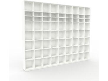 Bibliothèque - Blanc, design, étagère pour livres, sophistiquée, ouverte et fonctionelle - 349 x 277 x 35 cm, personnalisable