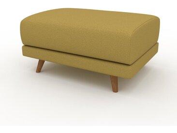 Pouf - Jaune Moutarde, design épuré, 80 x 42 x 60 cm, modulable