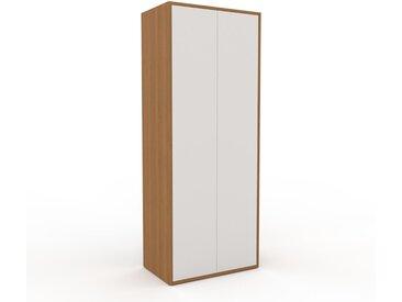 Armoire haute - Blanc, moderne, pour documents, avec porte Blanc - 77 x 195 x 47 cm, personnalisable