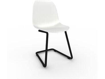 Chaise cantilever blanc de 49 x 82 x 44 cm au design unique, configurable