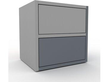 Table de chevet - Gris, contemporaine, table de nuit, avec tiroir Anthracite - 41 x 41 x 35 cm, modulable