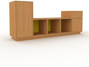 Buffet bas - Chêne, design contemporain, avec porte Chêne et tiroir Chêne - 195 x 85 x 47 cm