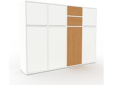 Buffet - Blanc, moderne, avec porte Blanc et tiroir Chêne - 156 x 118 x 35 cm