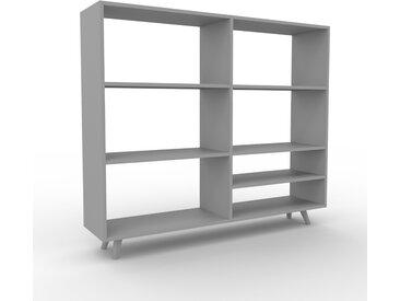 Bibliothèque - Gris, design, étagère pour livres, sophistiquée, ouverte et fonctionelle - 152 x 130 x 35 cm, personnalisable