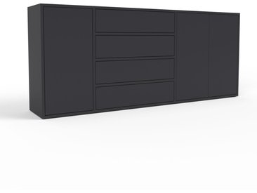 Enfilade - noir, design, buffet, avec porte noir et tiroir noir - 190 x 80 x 35 cm