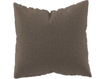 Coussin Brun Gris - 50x50 cm - Housse en Laine. Coussin de canapé moelleux