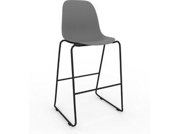 Chaise de bar gris de 49 x 112 x 58 cm au design unique, configurable