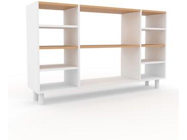 Range CD - Blanc, design contemporain, meuble pour vinyles, DVD - 154 x 91 x 35 cm, personnalisable