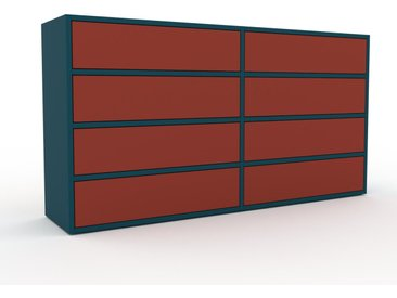 Commode - Terra cotta, pièce de caractère, sophistiquée, avec tiroir Terra cotta - 152 x 80 x 35 cm, personnalisable