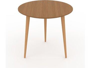 Table basse - Chêne, ronde, design scandinave, petite table pour salon élégante - 50 x 47 x 50 cm, personnalisable
