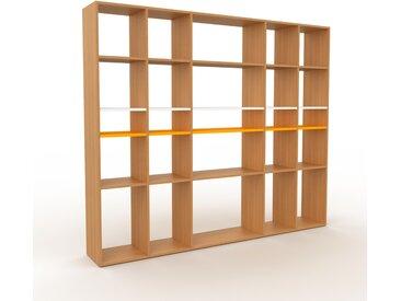 Système d'étagère - Chêne, design contemporain, rangements de qualité, modulables - 231 x 195 x 35 cm, personnalisable
