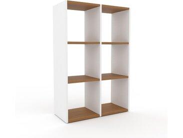Système d'étagère - Blanc, design contemporain, rangements de qualité, modulables - 79 x 118 x 35 cm, personnalisable