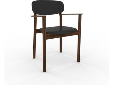 Chaise avec accoudoirs noir de 52 x 82 x 58 cm au design unique, configurable