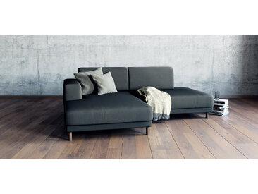 Canapé d'angle - Gris pierre, design épuré, canapé en L ou angle, élégant avec méridienne ou coin - 224 x 75 x 162 cm, modulable