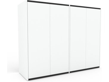 Buffet - Blanc, pièce modulable, enfilade, avec porte Blanc - 152 x 118 x 47 cm