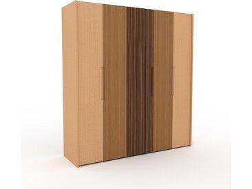 Dressing - Hêtre/Chêne/Noyer, design, armoire penderie pour chambre ou entrée, à portes battantes - 214 x 233 x 62 cm, modulable