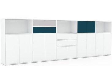 Enfilade - Blanc, design, buffet, avec porte Blanc et tiroir Blanc - 375 x 118 x 35 cm