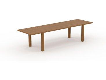 Table à manger extensible - Chêne, moderne, pour salle à manger ou cuisine, avec deux rallonges - 320 x 76 x 90 cm, personnalisable