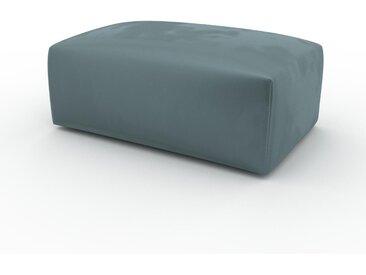 Pouf en velours - Vert Océan, design épuré, 100 x 42 x 64 cm, modulable