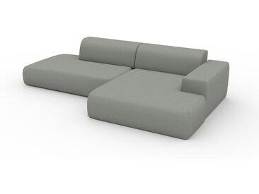 Canapé d'angle - Gris ardoise, design arrondi, canapé en L ou angle, confortable avec méridienne ou coin - 296 x 72 x 168 cm, modulable