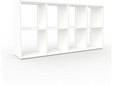 Range CD - Blanc, design contemporain, meuble pour vinyles, DVD - 156 x 80 x 35 cm, personnalisable