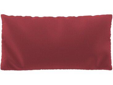 Coussin Rouge Corail - 40x80 cm - Housse en Laine. Coussin de canapé moelleux