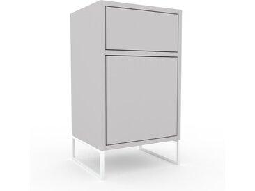 Table de chevet - Gris clair, moderne, table de nuit, avec porte Gris clairs et tiroir Gris clair - 41 x 72 x 35 cm