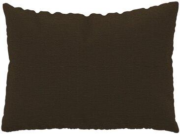 Coussin Brun Café - 48x65 cm - Housse en Tissu Fin. Coussin de canapé moelleux