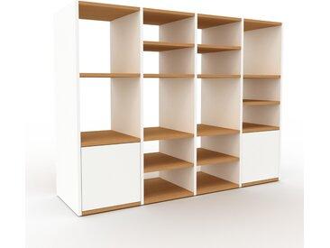 Système d'étagère - Blanc, modulable, rangements, avec porte Blanc - 156 x 118 x 47 cm