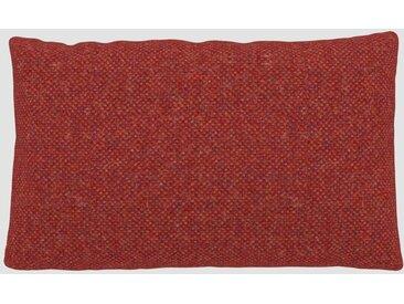 Coussin Orange Sanguine - 30x50 cm - Housse en Laine chinée. Coussin de canapé moelleux