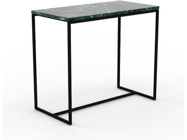 Table basse en marbre Vert Guatemala, design contemporain, bout de canapé luxueux et sophistiqué - 81 x 71 x 42 cm, personnalisable