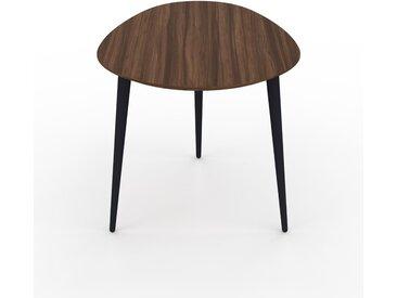 Table basse - Noyer, ovale, design scandinave, petite table pour salon élégante - 67 x 50 x 50 cm, personnalisable