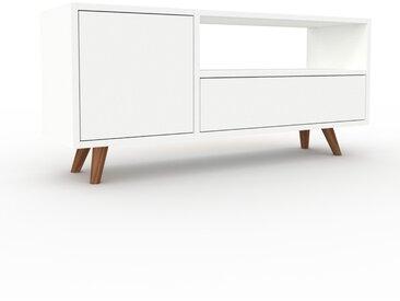 Buffet bas - Blanc, design contemporain, avec porte Blanc et tiroir Blanc - 116 x 53 x 35 cm