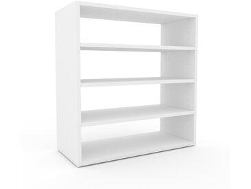 Système d'étagère - Blanc, design contemporain, rangements de qualité, modulables - 77 x 80 x 35 cm, personnalisable