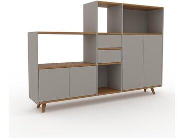 Système d'étagère - Gris sable, design, rangements, avec porte Gris sable et tiroir Gris sable - 190 x 130 x 35 cm