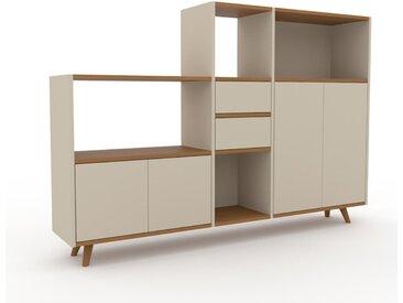 Système d'étagère - Taupe, design, rangements, avec porte Taupe et tiroir Taupe - 190 x 130 x 35 cm