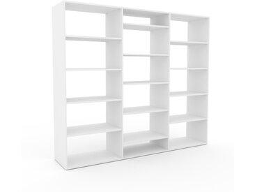 Système d'étagère - Blanc, design contemporain, rangements de qualité, modulables - 226 x 195 x 47 cm, personnalisable